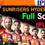 SRH team Players list 2021