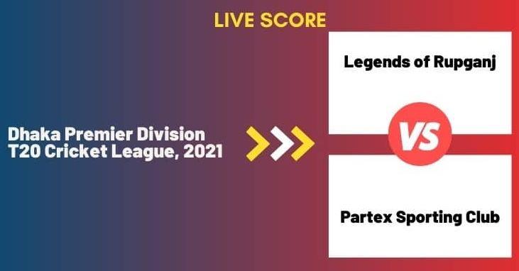 lor vs par live score